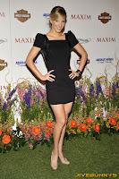 Heather Morris sexy little black dress