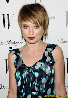 Emily Browning in blue a dress at unknown event