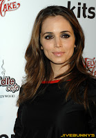 Eliza Dushku in a black dress at unknown event