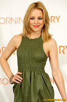 Rachel McAdams in a little green dress at Morning Glory Premiere