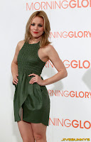 Rachel McAdams in a little green dress at Morning Glory Premiere