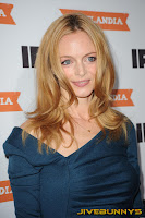 Heather Graham little blue dress at Portlandia Premiere in New York