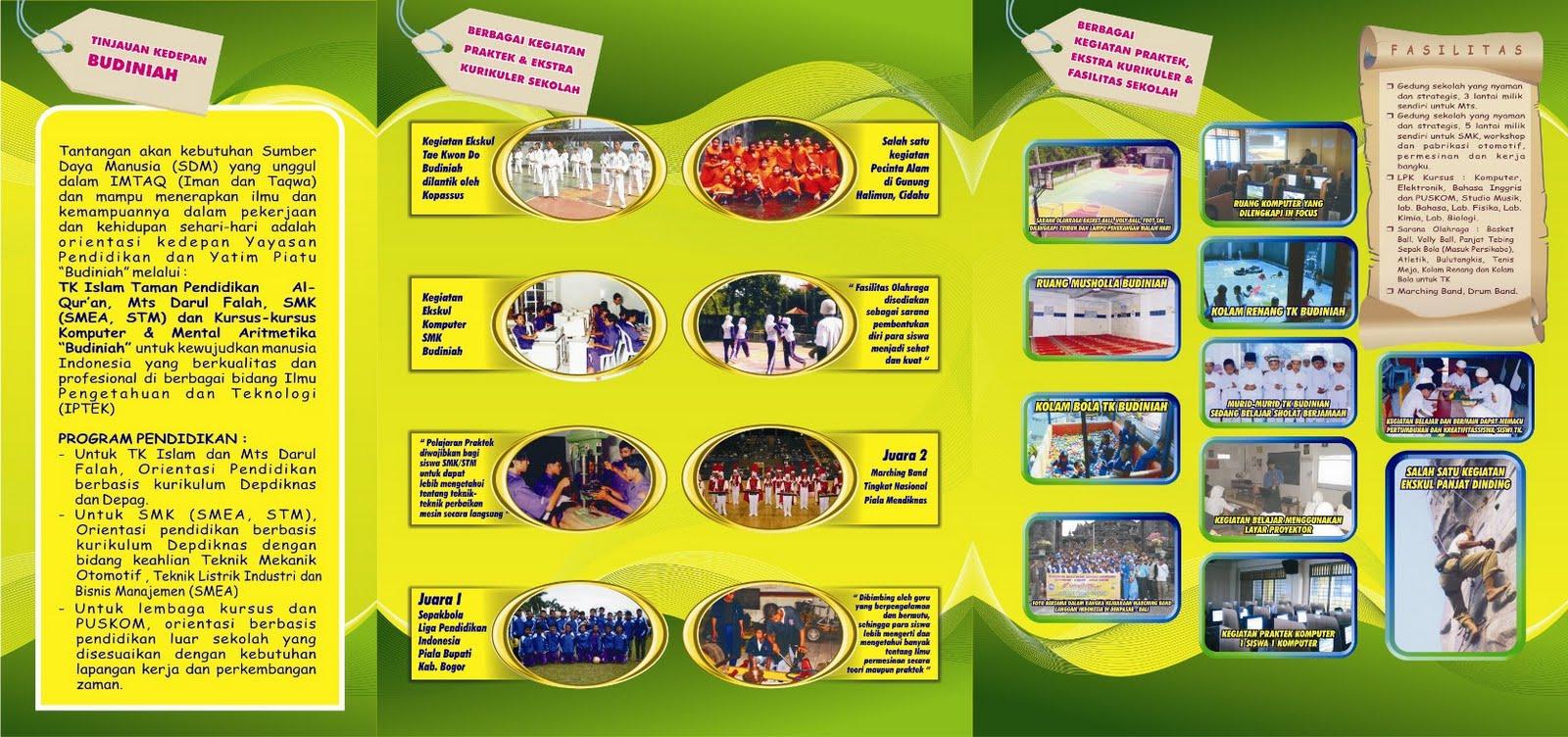 contoh-contoh brosur sekolah sekolah mts bagus