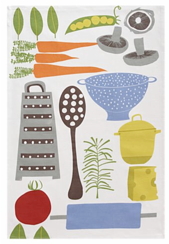 I Love Everything From The Retro Patterns To The Mellow Hues Of These Cute,  New Dish Towels From Crate And Barrel.