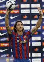 Zlatan Ibrahimovic nuevo jugador del FC Barcelona