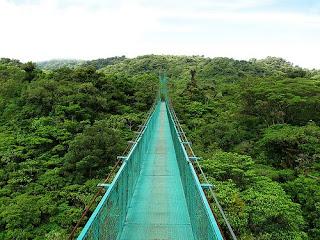 Costa Rica, paseo sobre la jungla