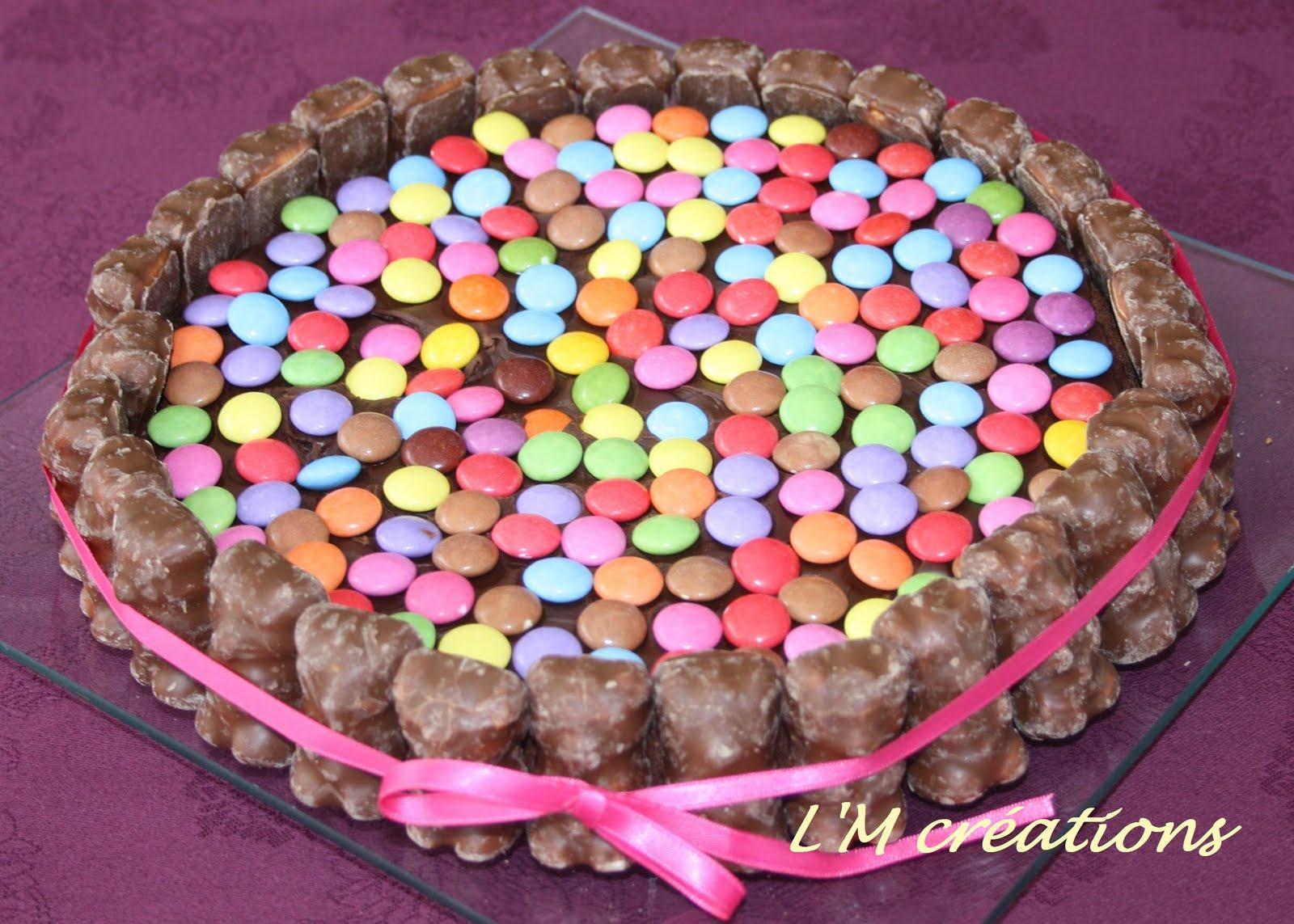 Saveurs en couleurs g teau d 39 anniversaire au chocolat for Decoration gateau m m s