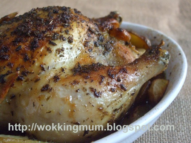 Let's get Wokking!: Roasted Chicken with Oregano and Lemon | Singapore ...