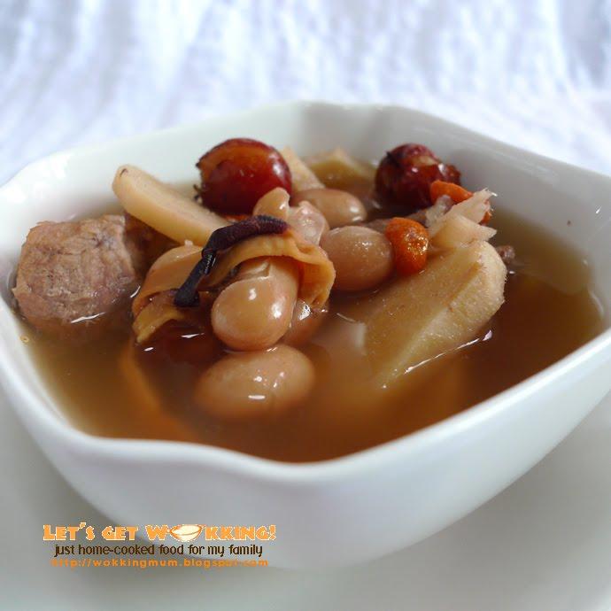 Arrowroot With Cranberry Beans Soup  E B  E  B E F D E F A E B  E B A
