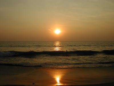 beach sunset. Vagador Beach Sunset Goa