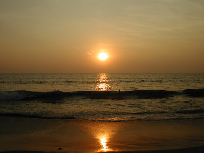 beach sunset pictures. Vagador Beach sunset Goa