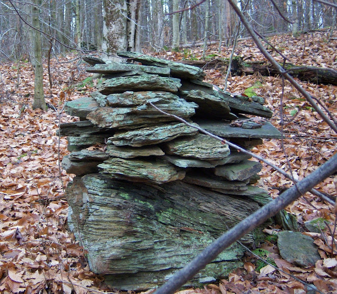 Stone Cairn on boulder
