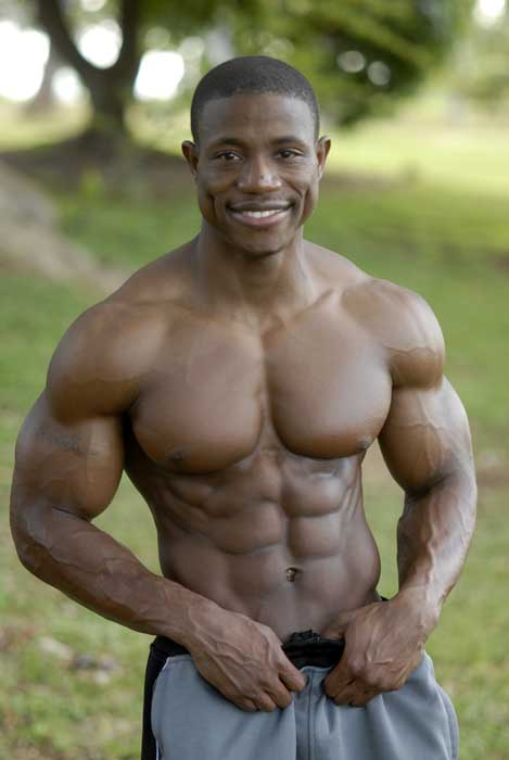 "Kenyatta Wilson is a bodybuilder who lists his stats as 5'8"", 165 ..."