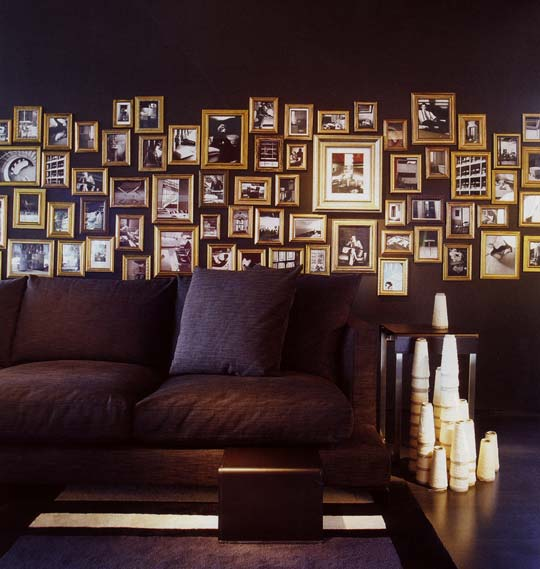 here are some of the images that might give you an idea to make a wall of frames at your place you can actually make a stunning decor by covering the