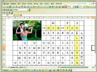 Gör korsord med Excel!