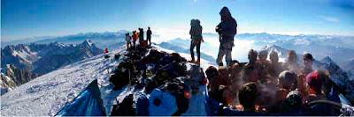 Jaccuzzi Event på Mont-Blanc