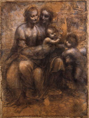 Wikimedia/Leonardo da Vinci  St Anne, St John and the child