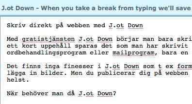 J.ot Down Anteckningsblock på webben
