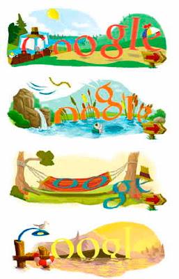 Google-loggor om sommarsolståndet