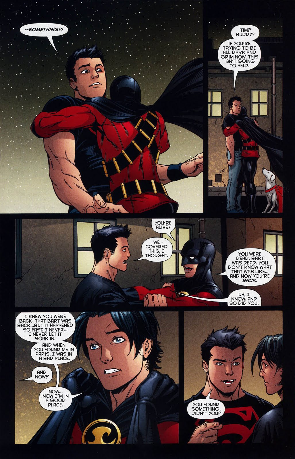 Superboy Robin Slash http://eyzmaster.blogspot.com/2010/07/comicpageoftheweekend-red-robin-and.html