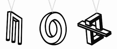Aroha Silhouettes recycled vinyl record jewellery - Phantasmal collection