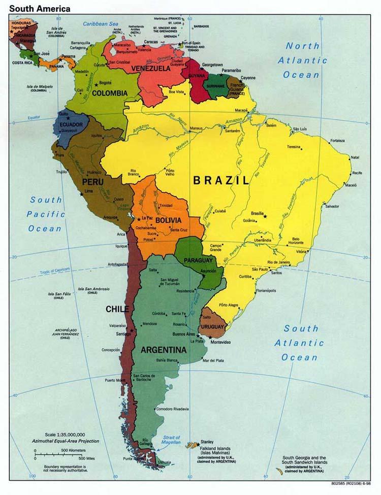 Informacion Para Curso De Geografia Lo Que Todo Mapa Debe Tener: Mapa Politico De America Con La Rosa Delos Vientos At Usa Maps