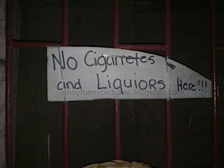 cigarettes and liquors