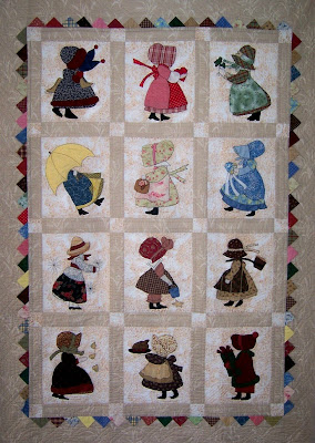 SunBonnet Sue quilt - hand applique