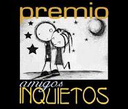 """Premio """"Amigos Inquietos""""me lo ha dado nuestro generoso Mario Alonso"""