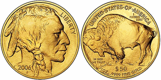 Buffalo+gold Coin Counters: Buffalo beats eagle.