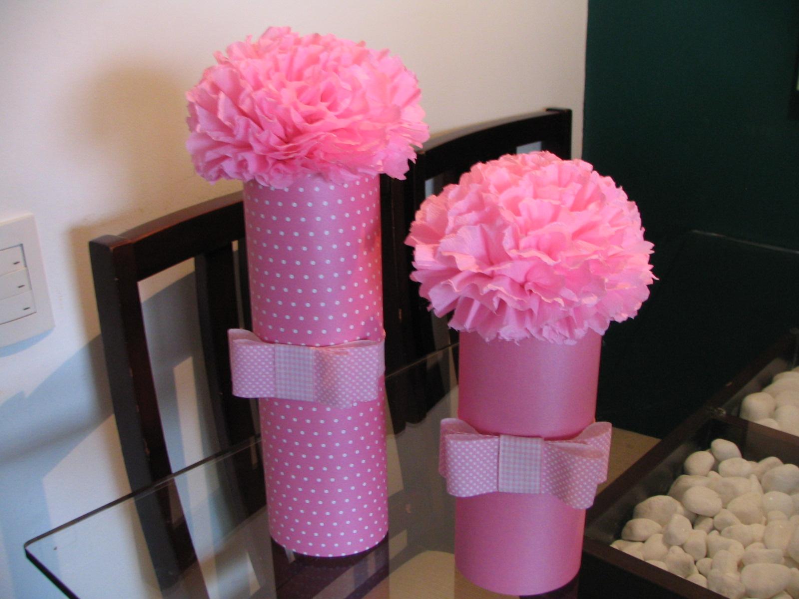Vasos De Flores De Papel Crepom  Fica Lindo