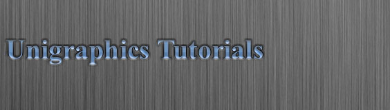 Unigraphics Tutorials