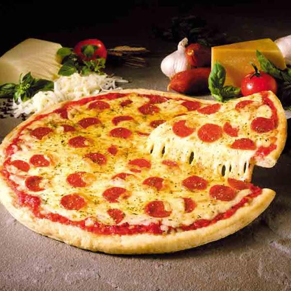 Cavemen and pizza