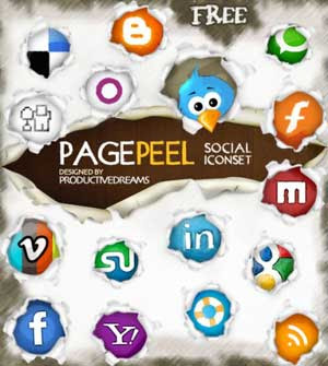 pagepeel social iconset