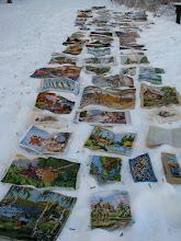 Vädring av stramaljer i snön!