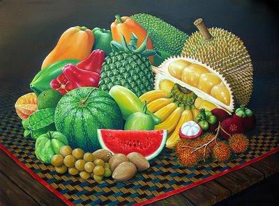 Lukisan catan yang berkaitan dengan bua-buahan tempatan