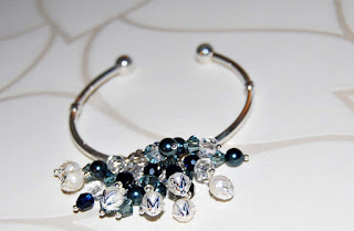 Sterling Silver Swarovski Bangle Bracelet