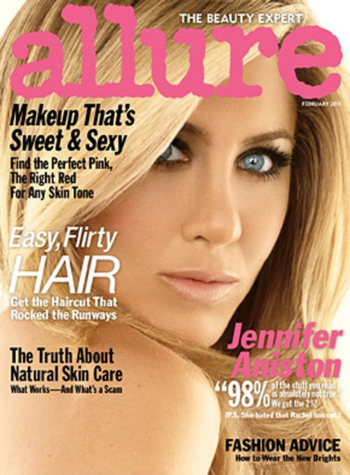 Jennifer Aniston Allure Cover. house Jennifer Aniston