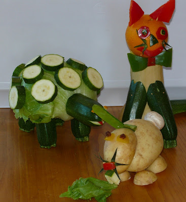 All three kids entered in the animals made from fruit or vegetables b3