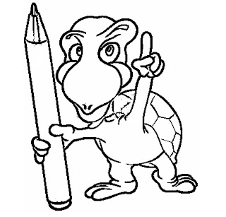 free cartoon turtle coloring pages coloring pages