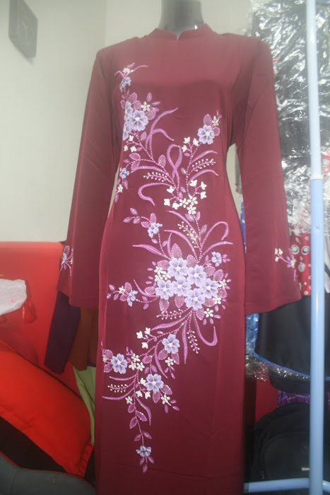 maroon jubah seluar