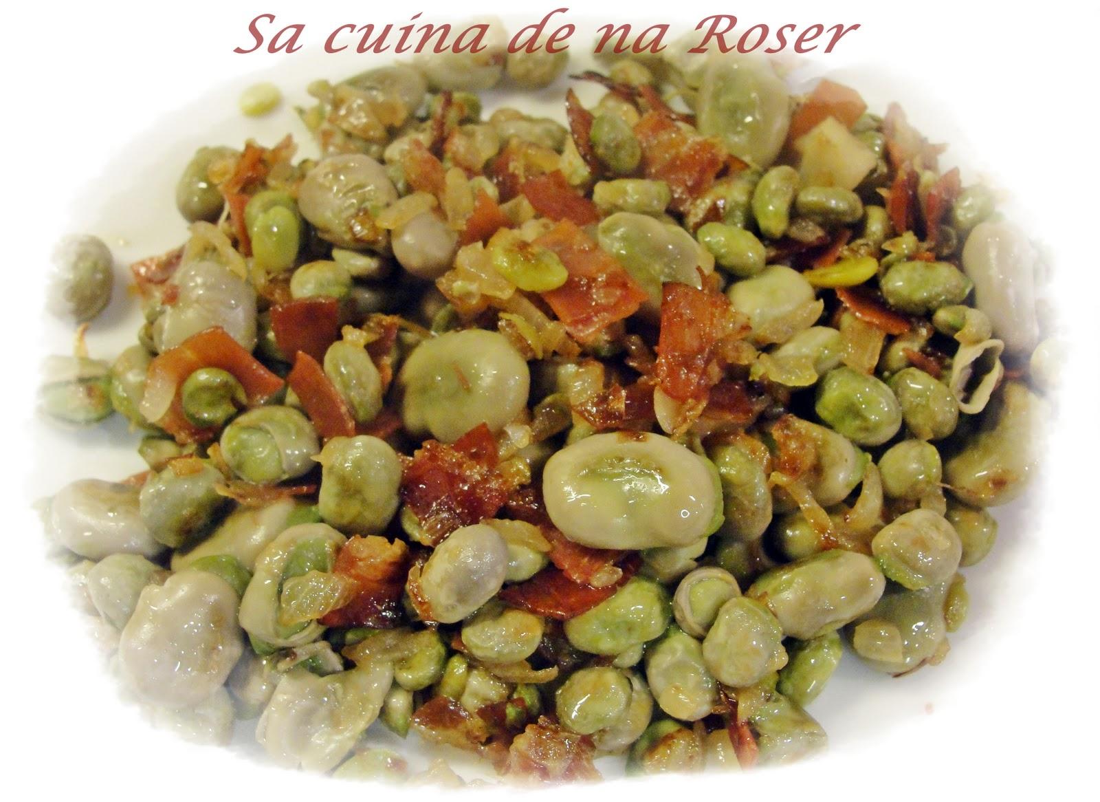 Sa cuina de na roser habitas tiernas con jam n - Habas tiernas con jamon ...