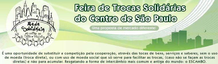 FEIRA DE TROCAS SOLIDÁRIAS DO CENTRO DE                    SÃO PAULO