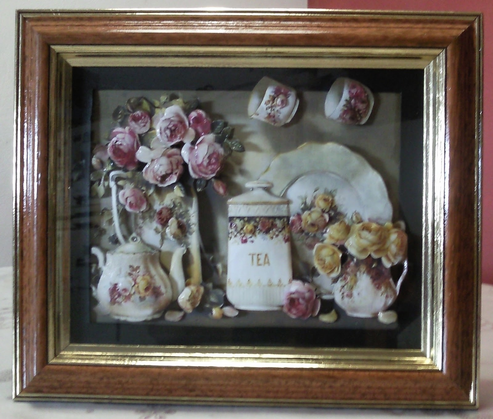 Viky cortes ideas cuadro 35x25 porcelana inglesa con estilo shabby chic - Cuadros shabby chic ...