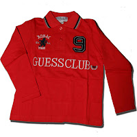 GUESS Boy Long Sleeves Red Top