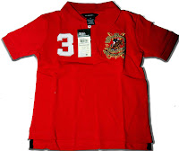 POLO No. 3 Boy Tee Red