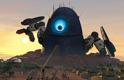 monsters vs aliens robot probe toy