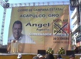 23 DE ENERO DEL 2011; CIERRE DE CAMPAÑA DE AGUIRRE RIVERO EN ACAPULCO