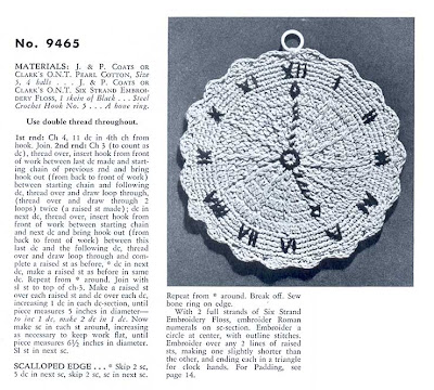 vintage crochet clock potholder pattern