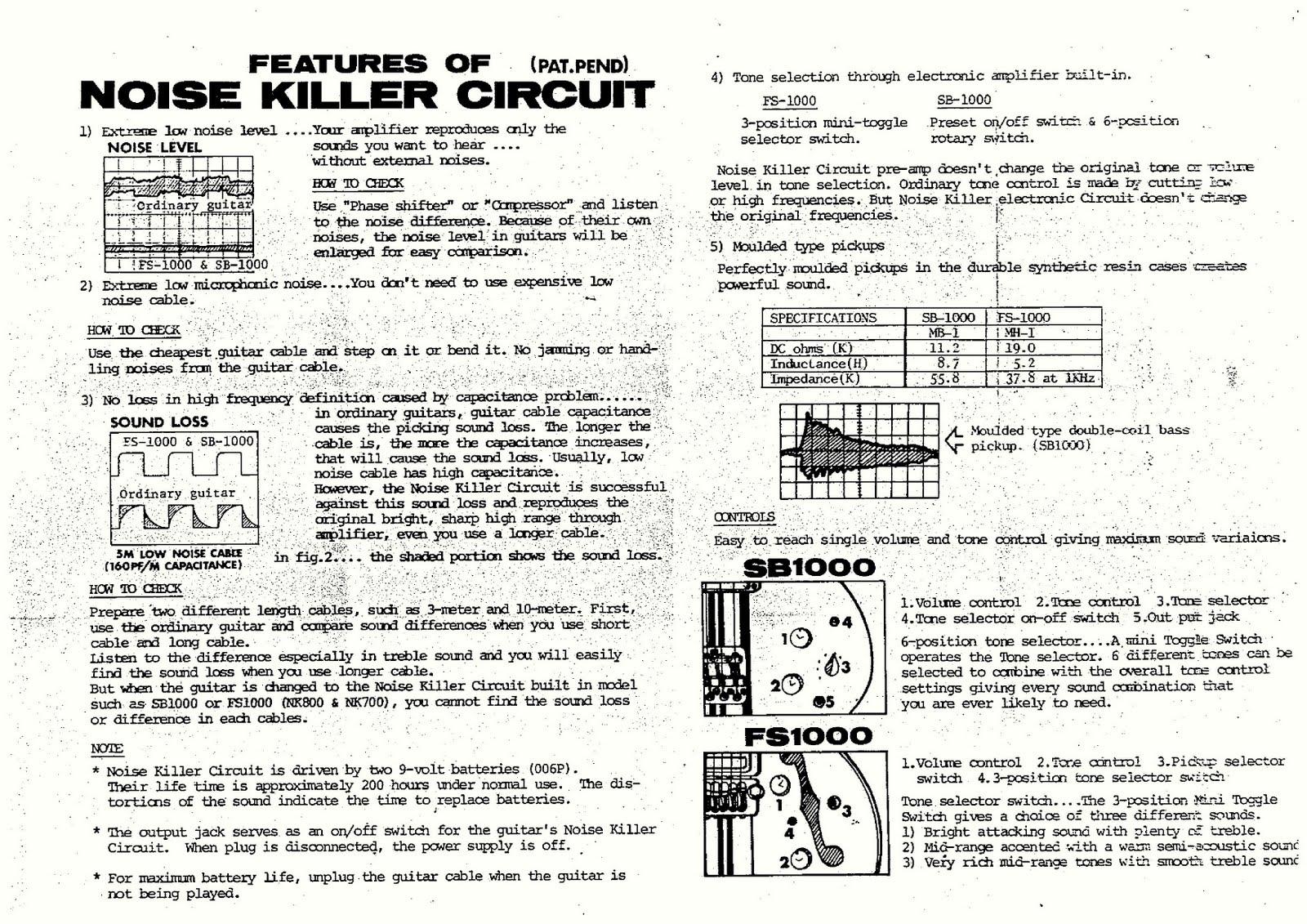 Aria Bass Wiring Diagram Guitarelectronicscom Guitar 1 Humbucker Volume Basses Pro Ii Sb1000 Schematics And Info